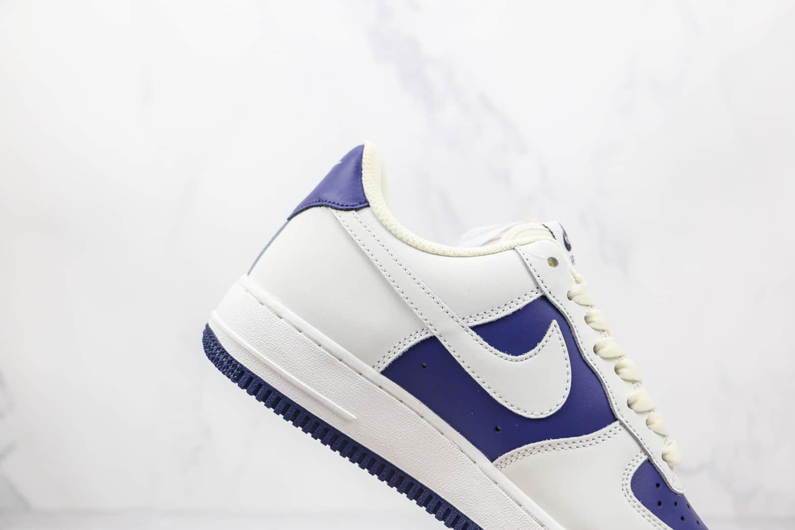 耐克Nike AIR FMRCE 107纯原版本低帮空军一号白蓝色板鞋内置Sole气垫 货号:AL2236-103