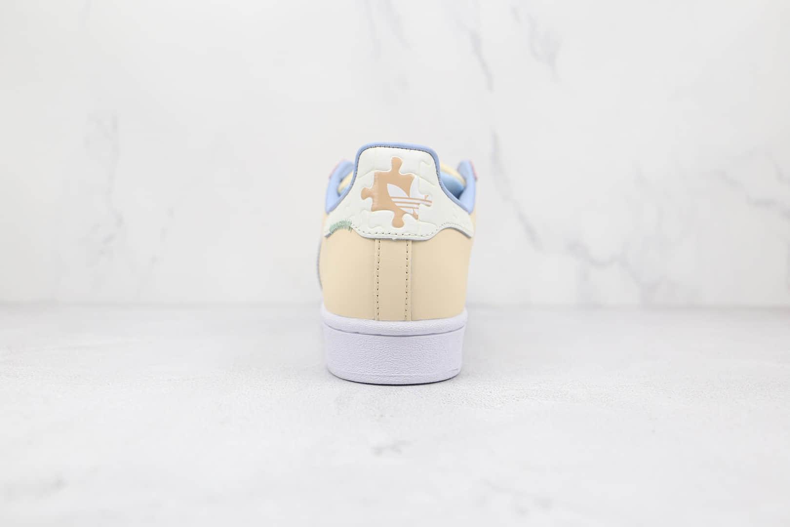 阿迪达斯Adidas Originals Superstars White Red Laceless纯原版本三叶草贝壳头米黄橙蓝色板鞋原楦头纸板打造 货号:GZ3414