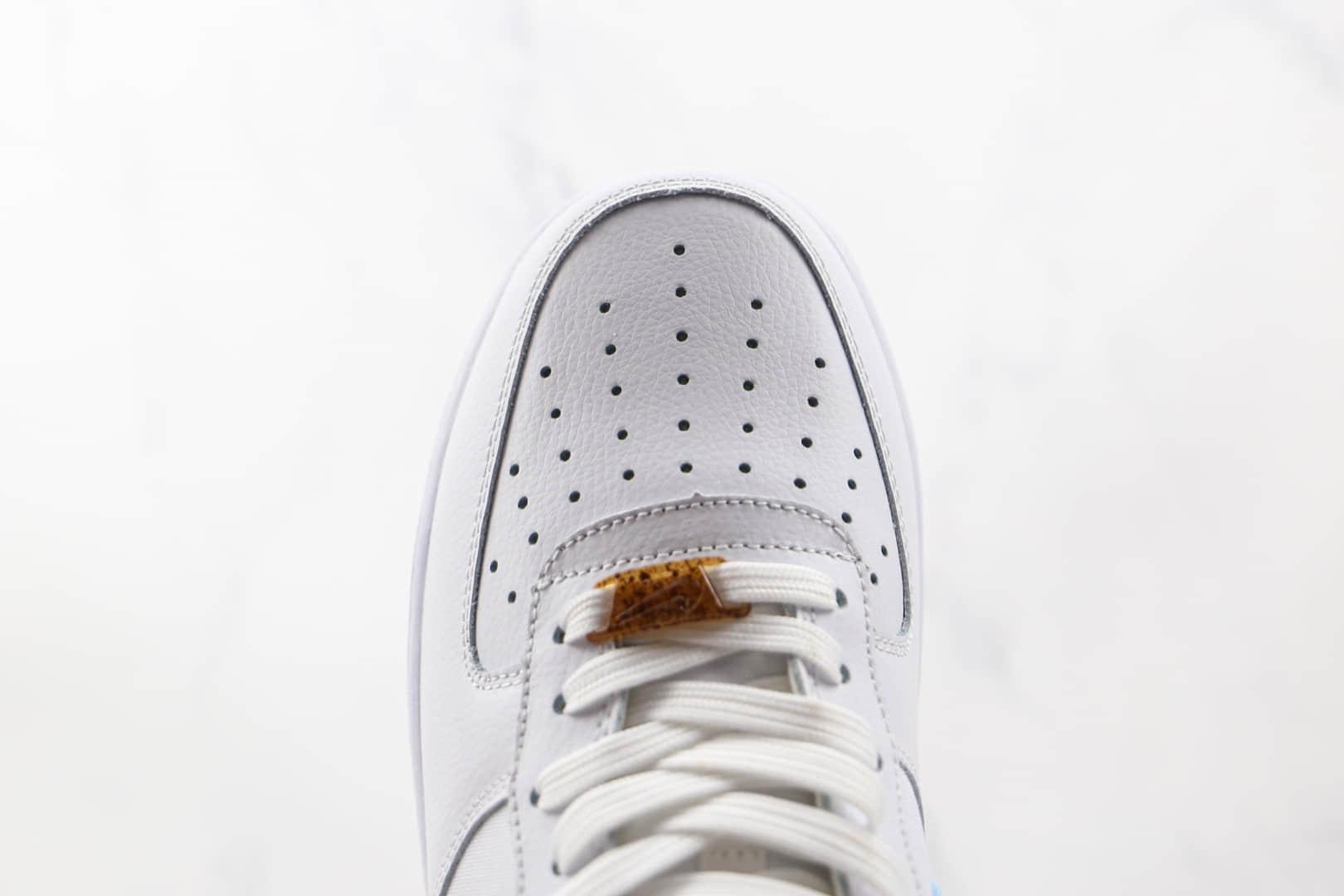 耐克Nike Air Force 1'07 LV8纯原版本低帮空军一号植物刺绣白棕色板鞋原鞋开模一比一打造 货号:CZ0269-100