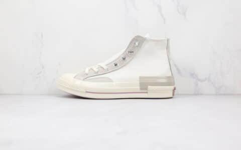 匡威Converse Chuck 1970公司级版本高帮奶粉色硫化帆布鞋原盒原标 货号:173101C