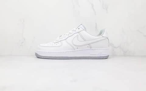 耐克Nike AIR FMRCE 1纯原版本低帮空军一号白灰色板鞋内置Sole气垫 货号:DD9931-100