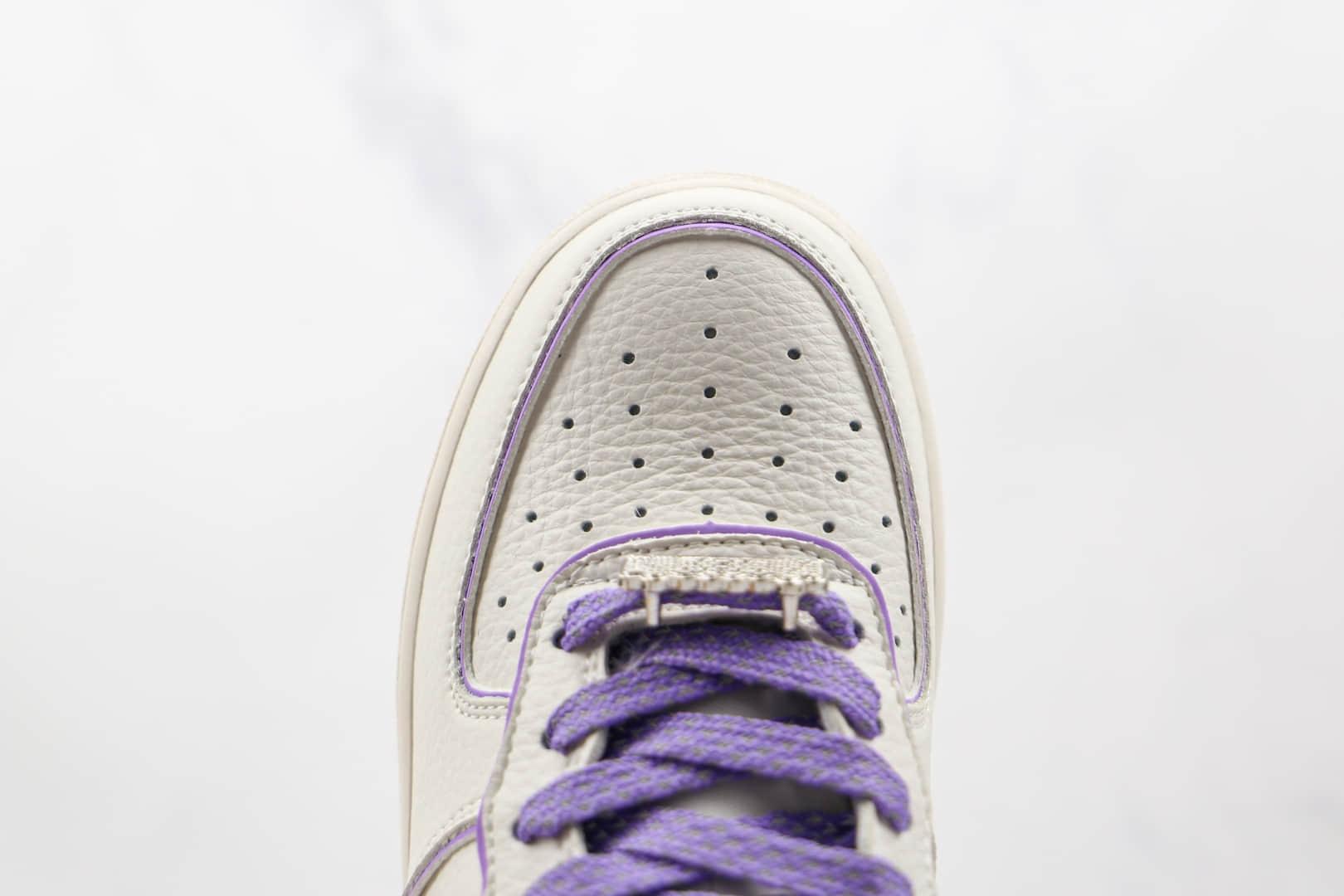 耐克Nike Air Force 1 Low 07纯原版本低帮空军一号白紫色板鞋内置气垫 货号:UH8958-055