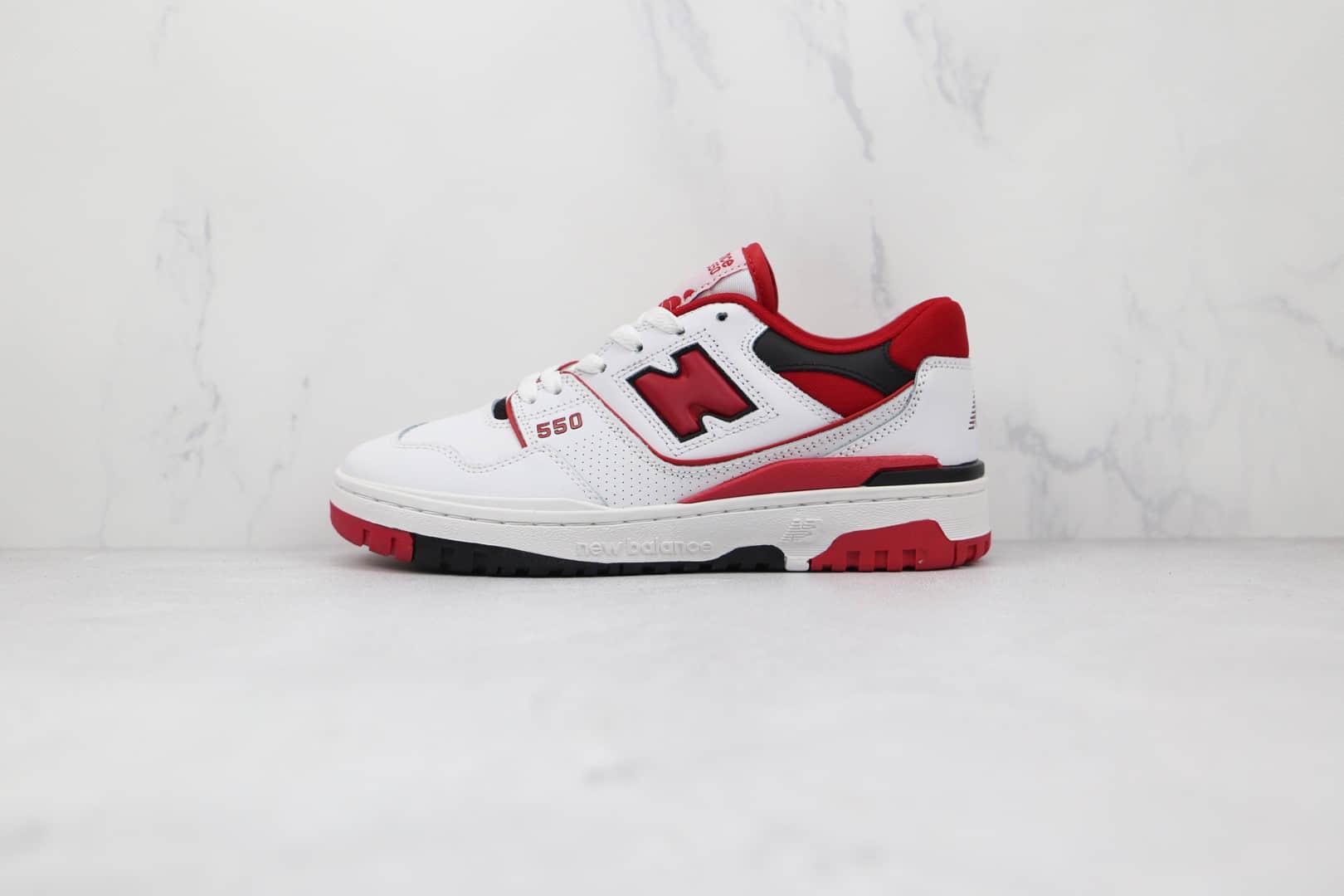 新百伦new balance 550纯原版本白红色复古慢跑鞋原楦头纸板打造 货号:BB550SE1