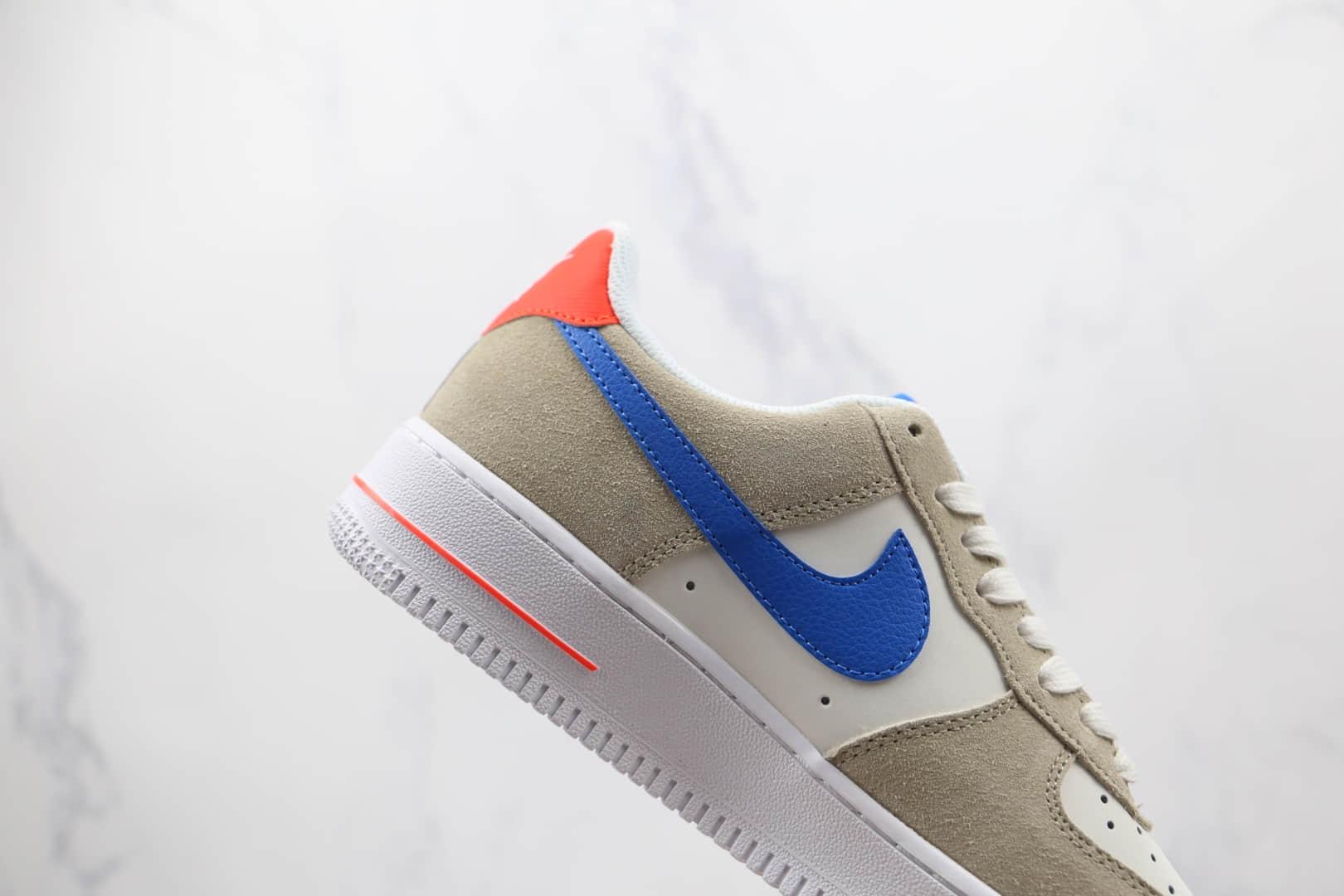 耐克Nike Air Force 1 AF1 USA纯原版本低帮空军一号米红蓝配色板鞋内置Sole气垫 货号:DM8314-100