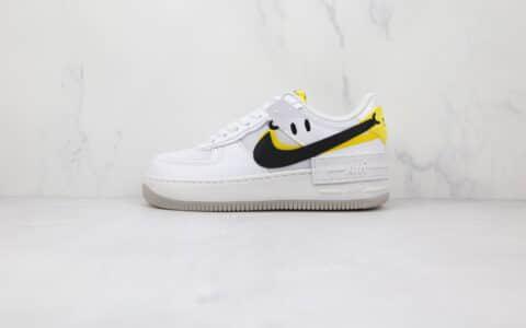 纯原版本耐克低帮空军一号白黑黄色马卡龙双钩笑脸板鞋出货