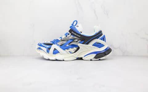巴黎世家Balenciaga Track 4.0纯原版本复古做旧四代蓝色老爹鞋原盒原标原楦头纸板打造
