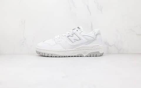 新百伦New Balance BB550纯原版本复古NB550白色板鞋原档案数据开发 货号:BB550PB1