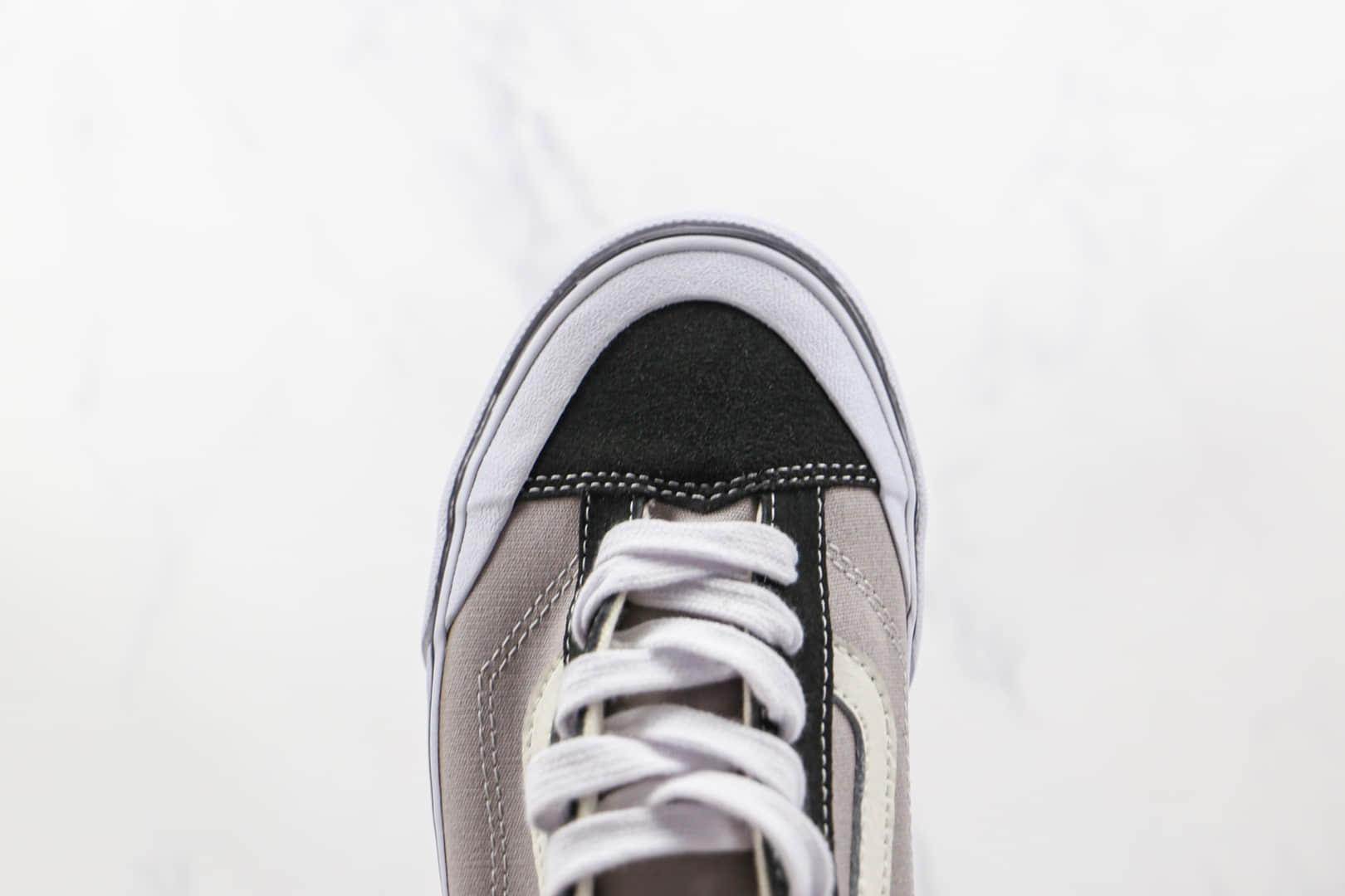 万斯Vans Style 36 Decon SF公司级版本半月包头杀人鲸酷灰黑色硫化帆布鞋原楦头纸板打造 货号:VN0A3MVLK0A