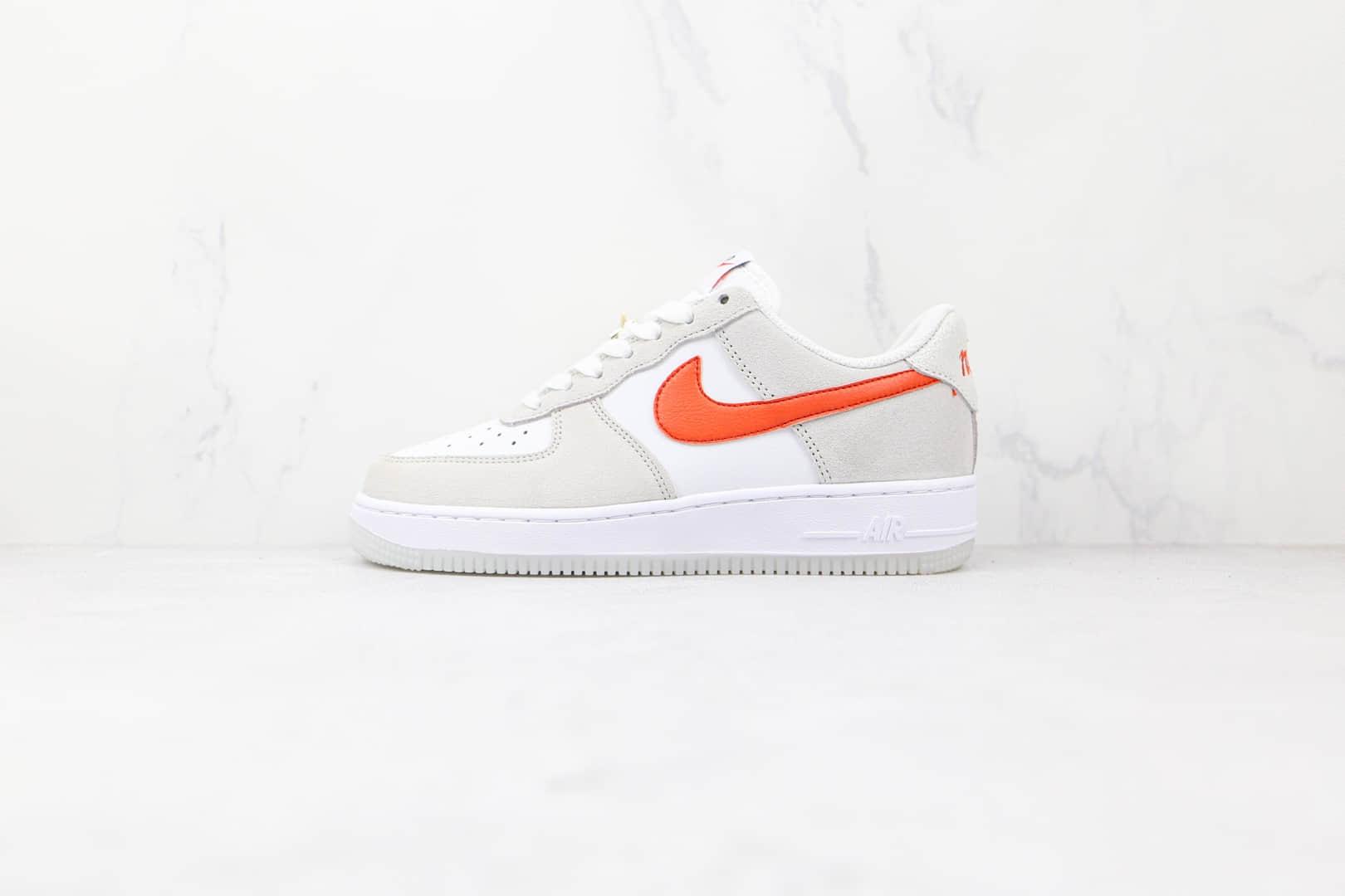 耐克Nike AIR FORCE 1'07 SE纯原版本低帮空军一号米白橙色板鞋内置气垫 货号:DA8302-101