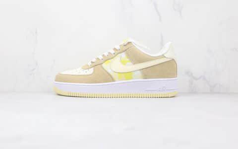 耐克Nike Air Force 1 Low纯原版本低帮空军一号柠檬卡其色板鞋内置气垫 货号:DM9476-700