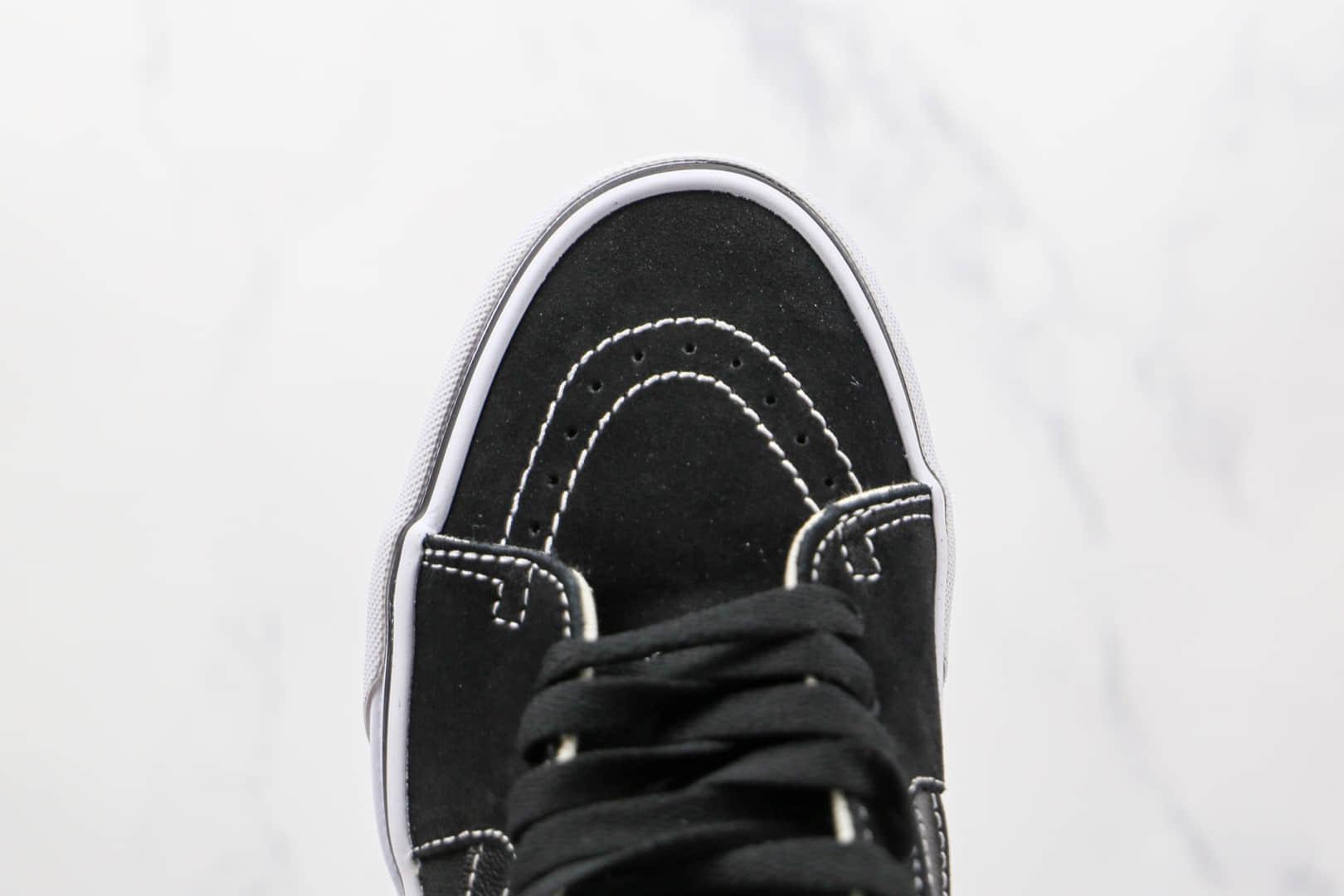 万斯Vans Sk8-Mid x JJJJound联名款公司级版本高帮黑色帆布鞋原楦头纸板打造原盒原标