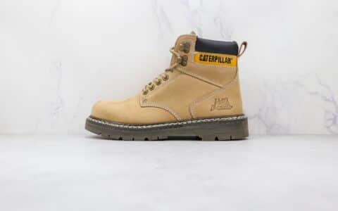 卡特CAT Women Founder Boot纯原版本高帮工装大黄靴马丁靴原档案数据开发