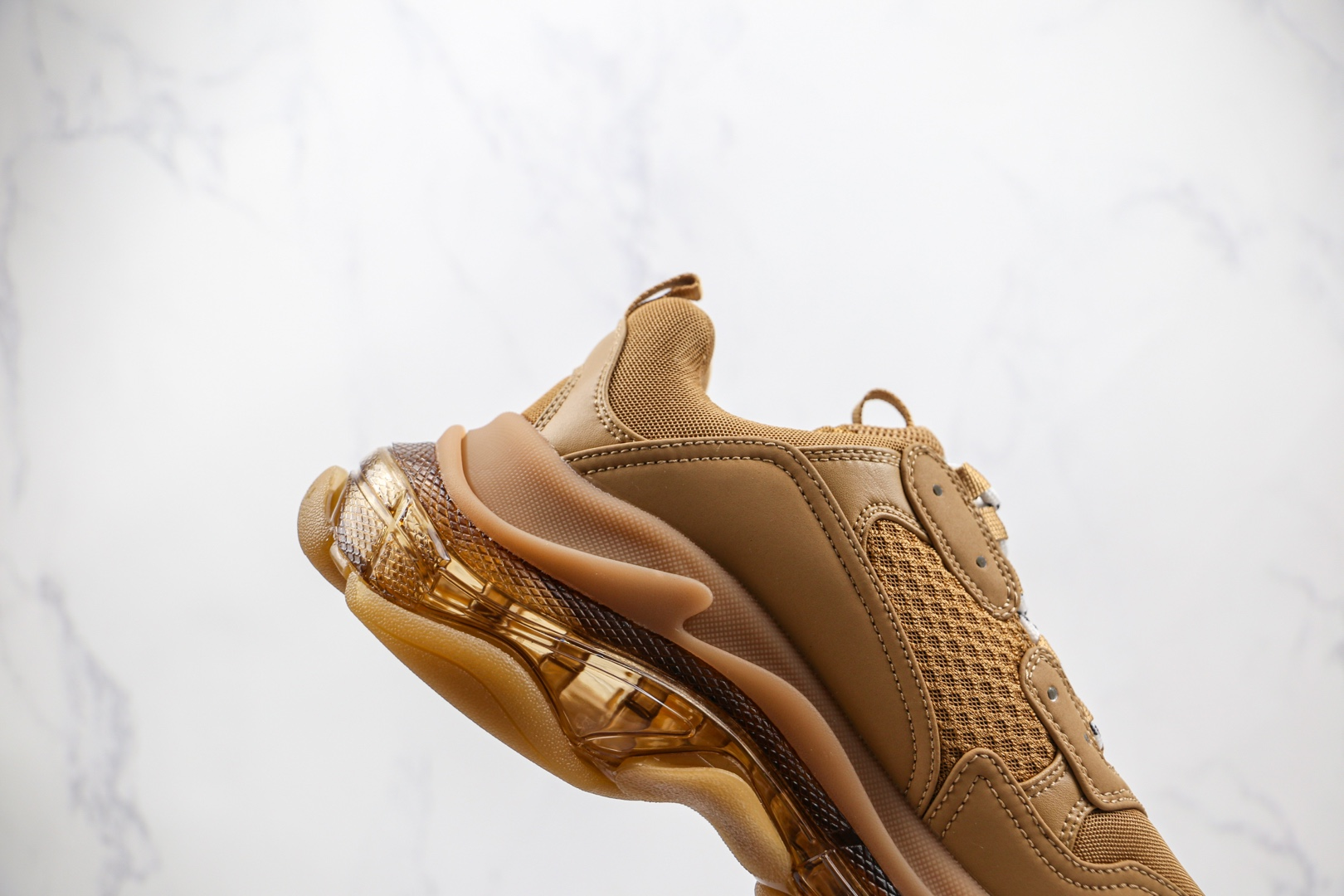 巴黎世家Balenciaga Triple S纯原版本小麦色咖啡复古老爹鞋原装组合大底原盒原标