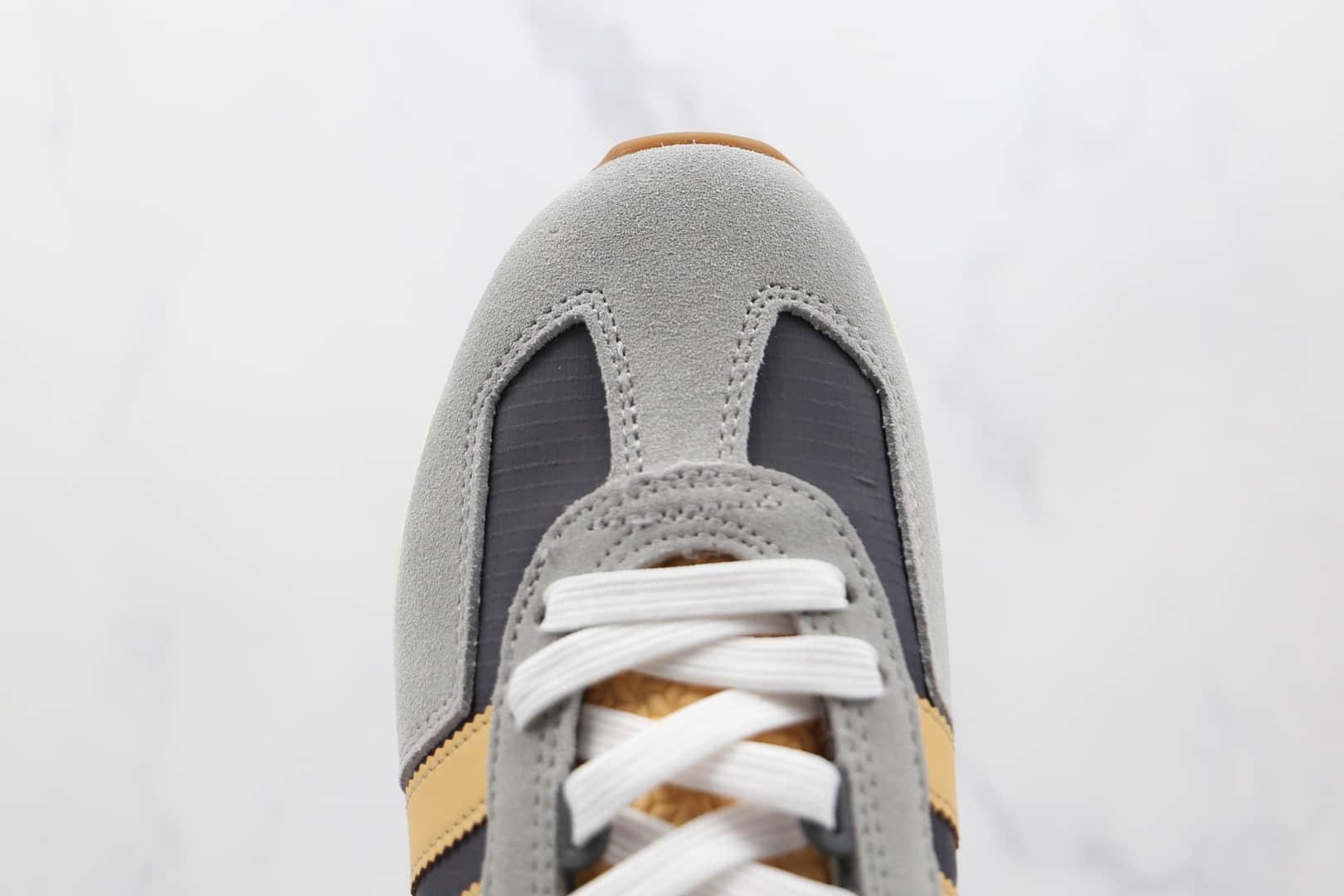阿迪达斯Adidas RETROPY E5纯原版本三叶草厚底灰白橙色爆米花跑鞋原楦头纸板打造 货号:H03078