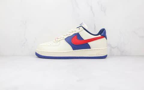 耐克Nike AIR FMRCE 1纯原版本低帮空军一号白蓝红色板鞋内置气垫 货号:CW2288-901