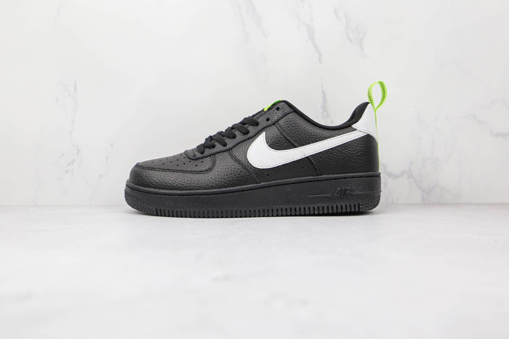 耐克Nike AIR FMRCE 1 07纯原版本低帮空军一号黑白色绿尾板鞋内置气垫 货号:DO6394-001