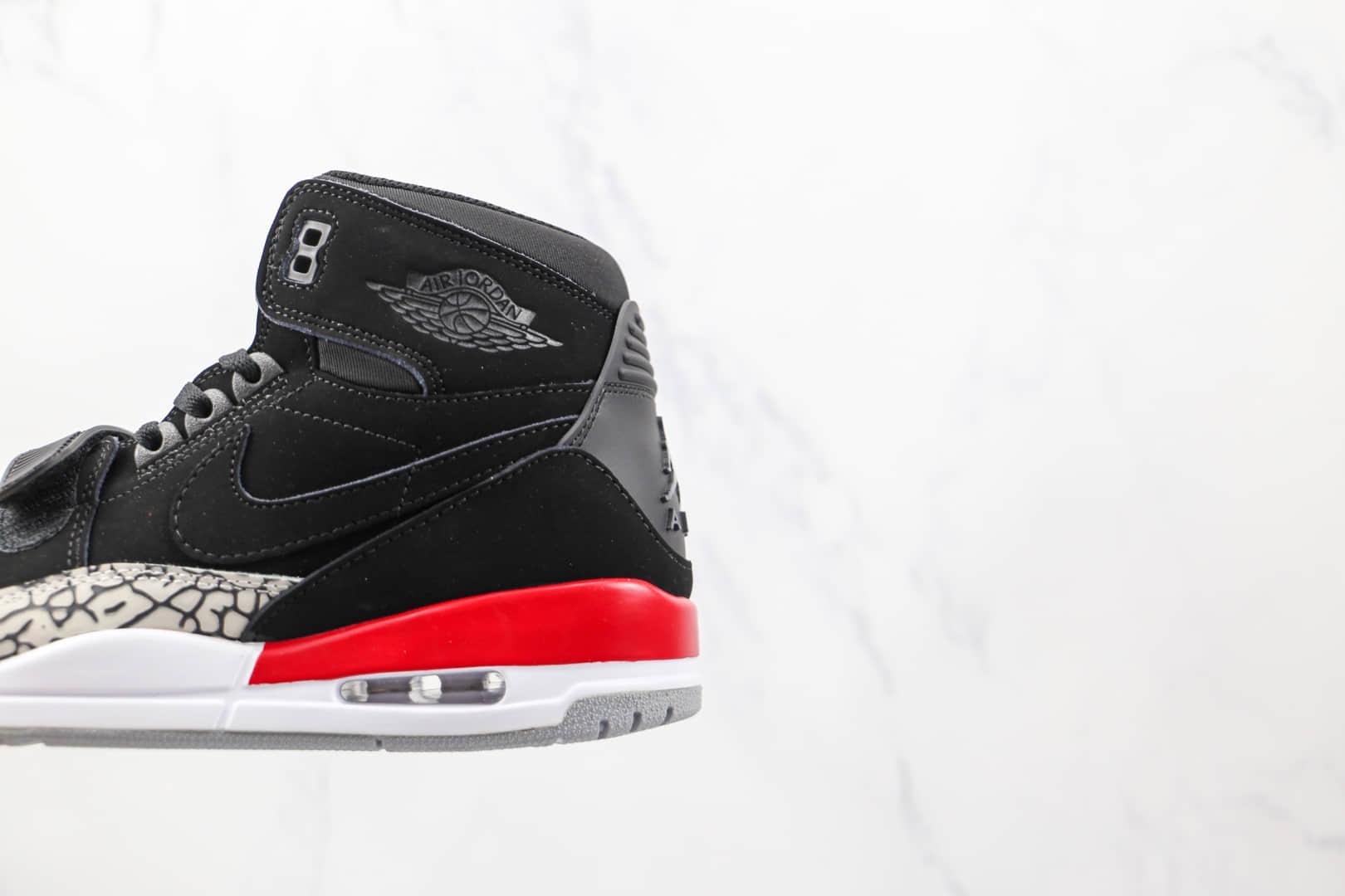 乔丹Air Jordan Legacy 312纯原版本高帮AJ132麂皮黑红色板鞋原档案数据开发 货号:AV3922-060