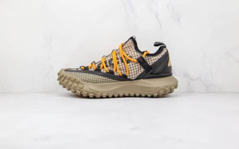 耐克Nike ACG Mountain Fly Low Fossil Stone纯原版本黑黄色网状ACG登山鞋原盒原标原楦头纸板打造 货号:DA5424-200