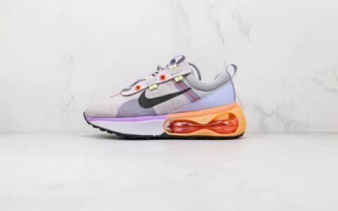 耐克Nike Air Max 2021纯原版本灰紫色Max2021半掌气垫鞋原楦头纸板打造 货号:DA1923-500