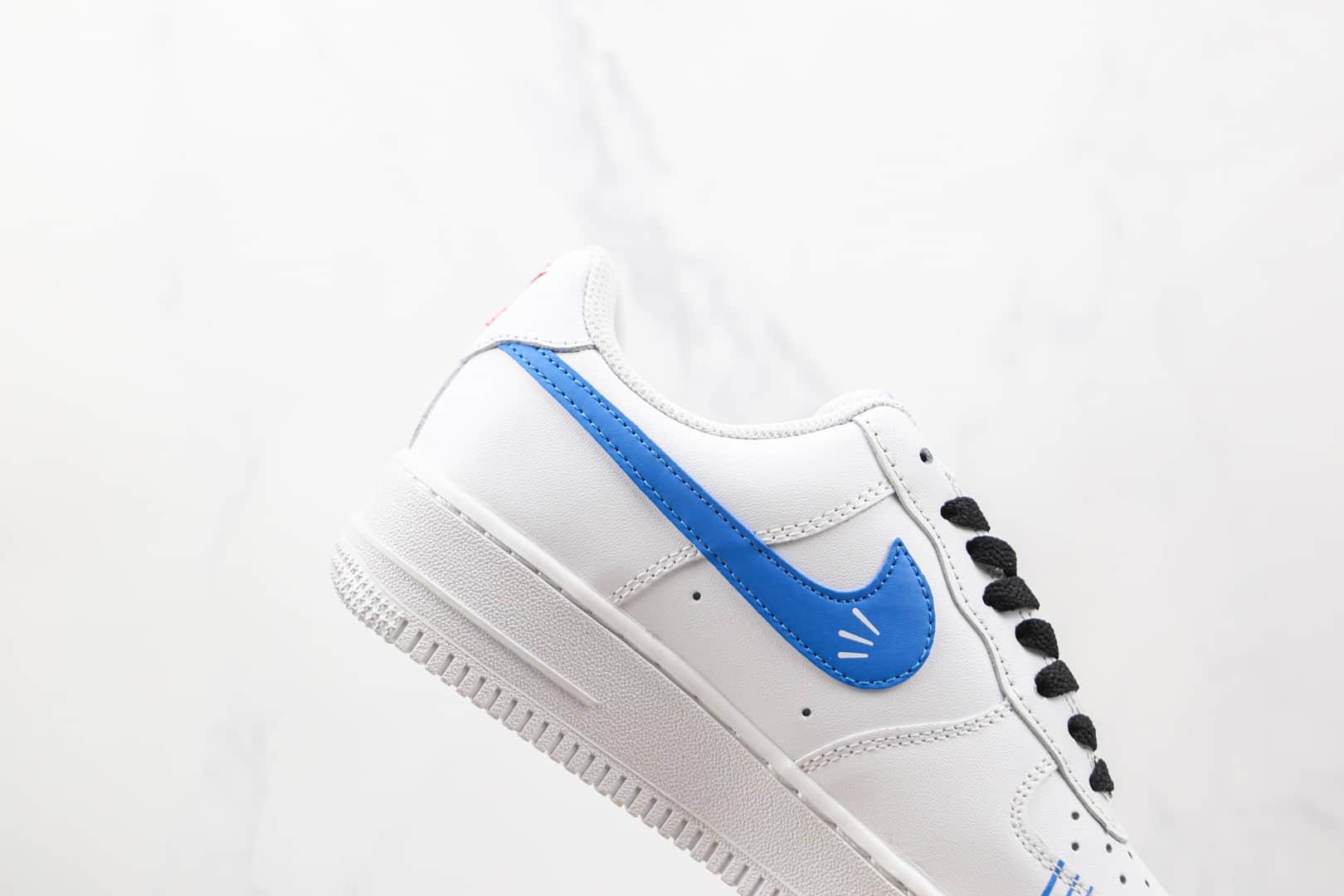 耐克Nike Air Force 1 Low纯原版本低帮空军一号白蓝红色涂鸦板鞋内置气垫 货号:CW2288-111