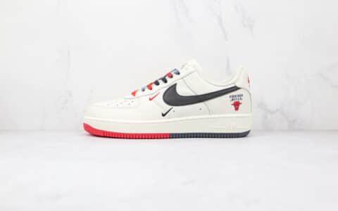 耐克Nike Air Force 1 Low 07纯原版本低帮空军一号白红黑色公牛联名芝加哥配色板鞋内置Sole气垫 货号:CH2806-306