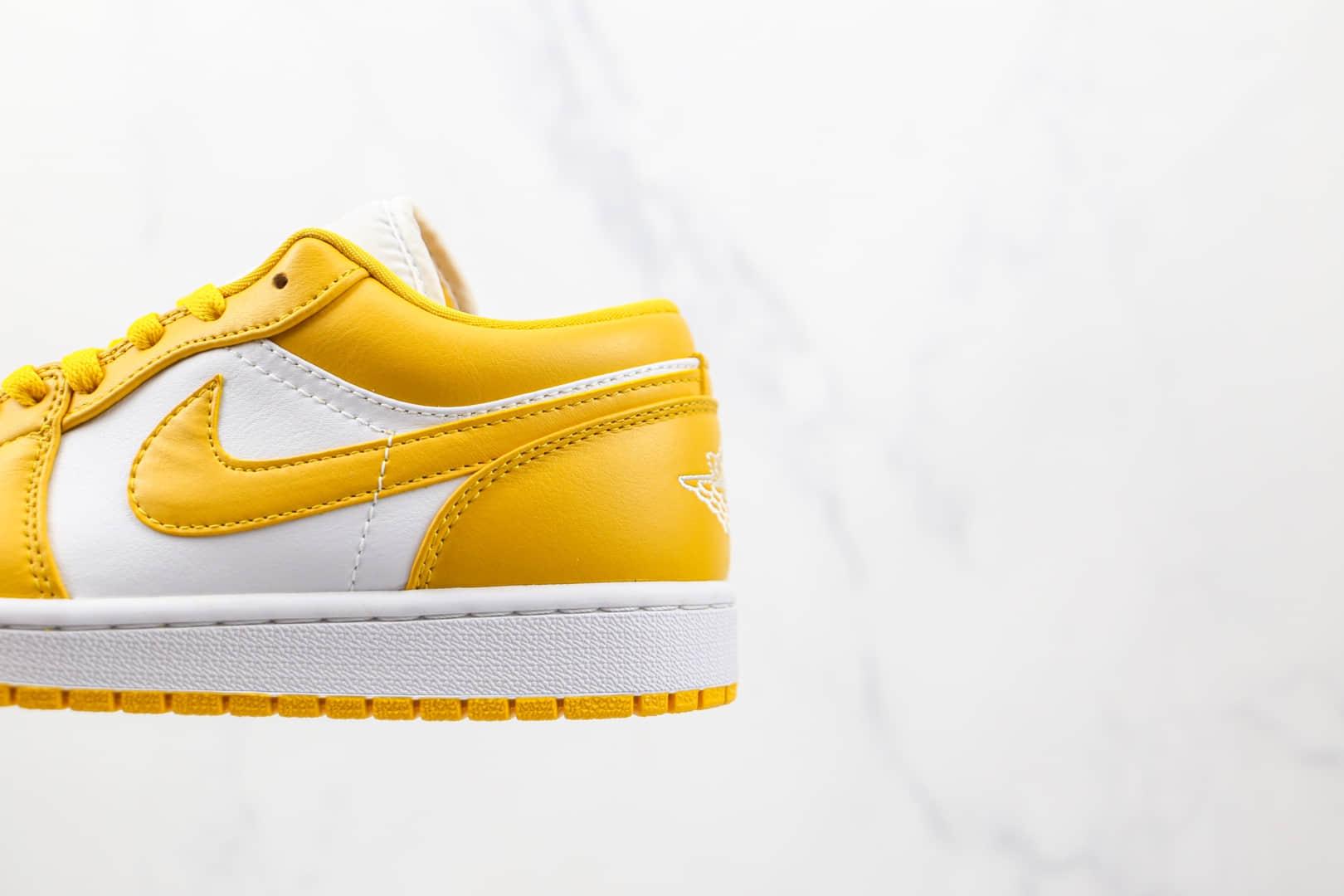 乔丹Air Jordan 1 Low纯原版本低帮AJ1白黄芥末黄板鞋原档案数据开发 货号:553558-171