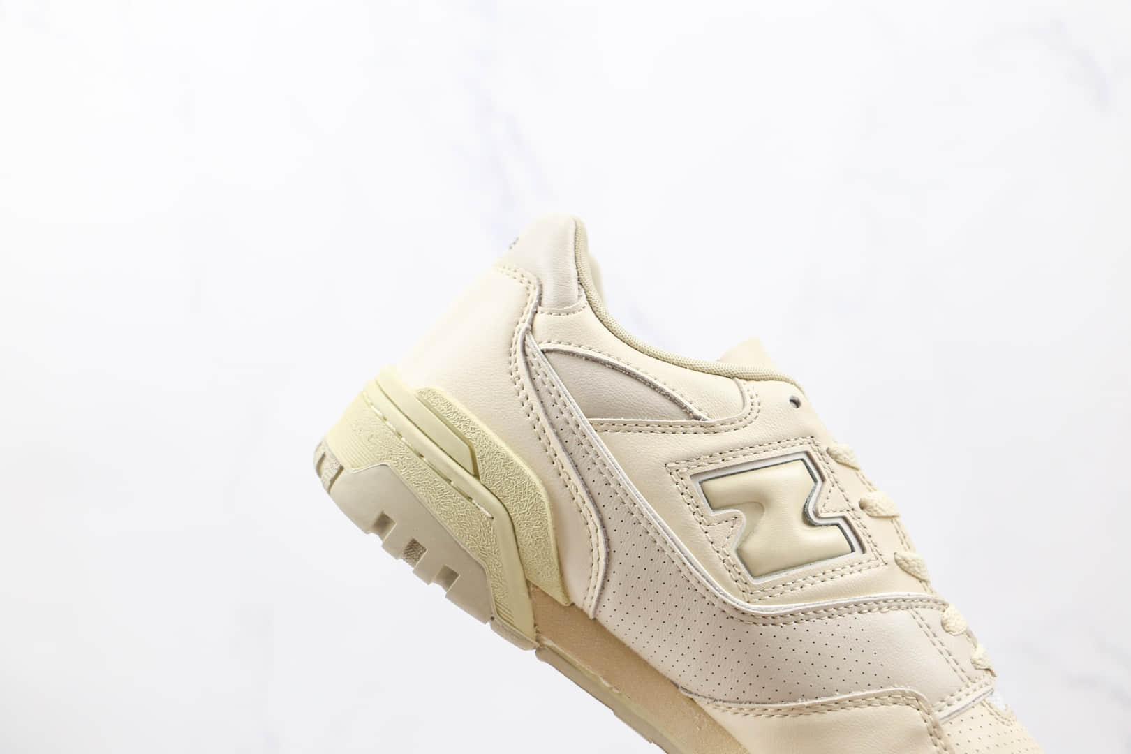 新百伦New balance 550纯原版本复古NB550米色板鞋原楦头纸板打造原盒原标 货号:BB550AR