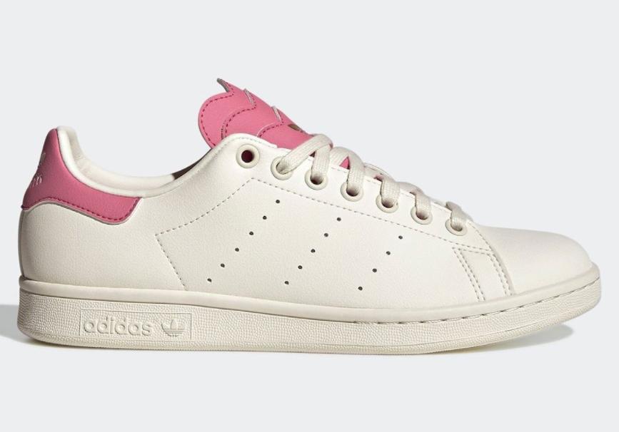 甜美白粉+多层鞋舌设计!阿迪达斯史密斯板鞋新配色现已发售! 货号:H03924