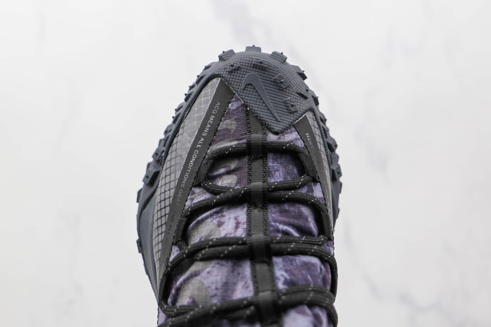 耐克Nike ACG Mountain Fly Low Fossil Stone纯原版本网状黑紫色ACG户外登山鞋原档案数据开发 货号:DC9660-001