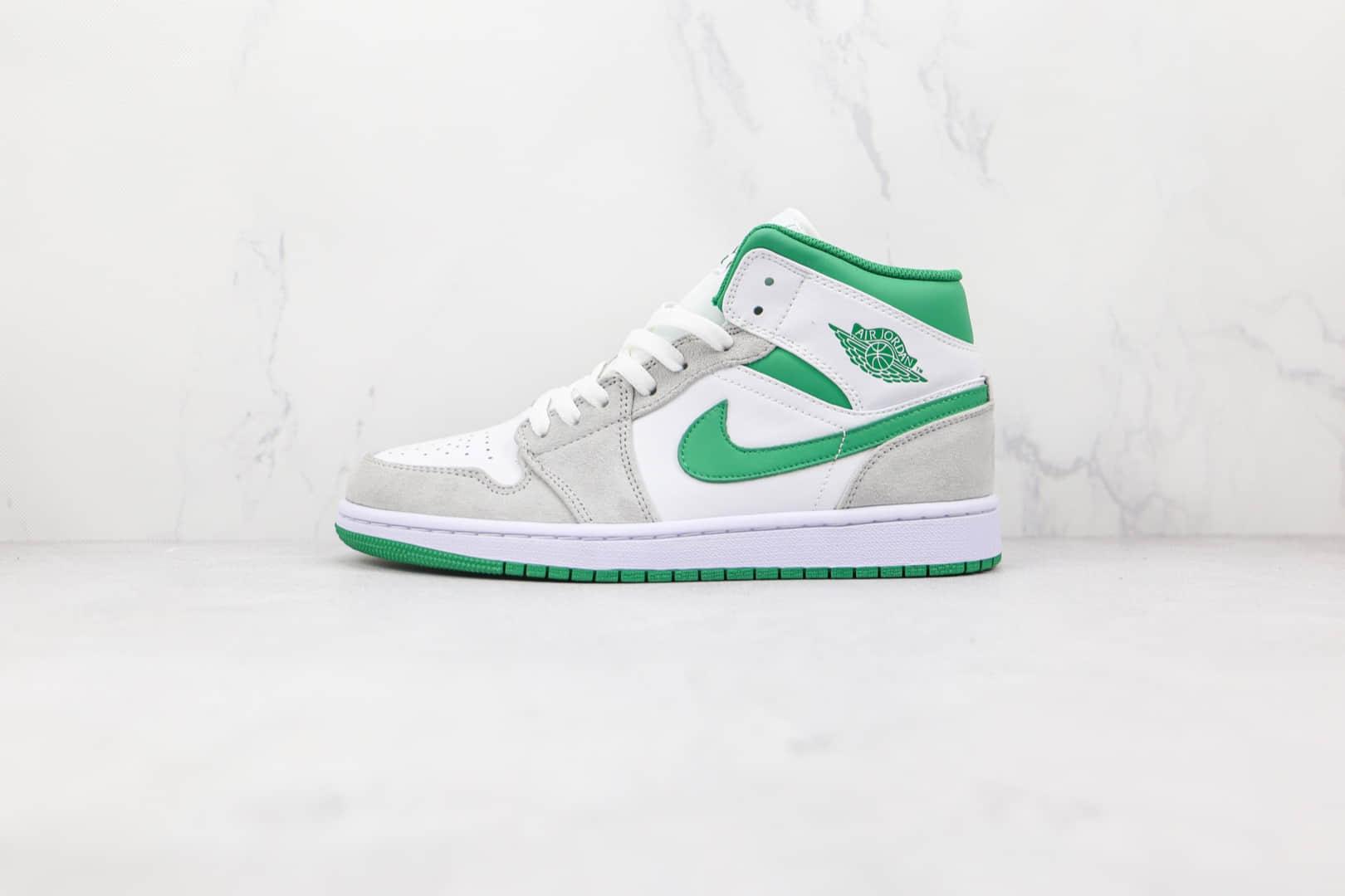 纯原版本乔丹中帮AJ1灰绿色篮球鞋出货
