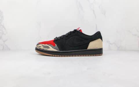 乔丹Air Jordan 1 Low纯原版本低帮AJ1黑红主题食肉动物板鞋原盒原标 货号:DN3400-001