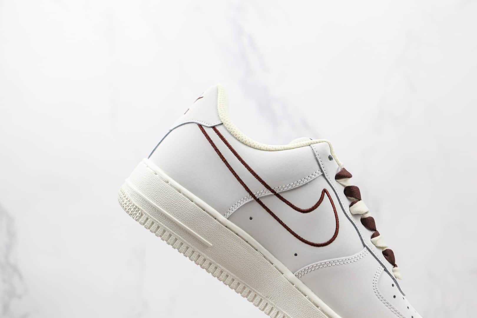 耐克Nike Air Force 1 Low 07纯原版本低帮空军一号米棕电绣勾配色板鞋原档案数据开发 货号:CL6326-138
