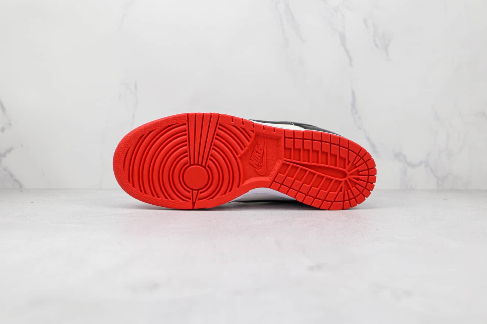耐克Nike Dunk Low EMB x NBA联名款纯原版本低帮DUNK白红黑芝加哥公牛配色板鞋原盒原标 货号:DD3363-100