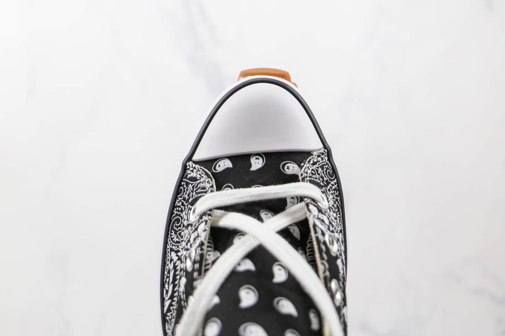匡威Converse Run Star Hike公司级版本厚底锯齿腰果花帆布鞋原楦头纸板打造原盒原标