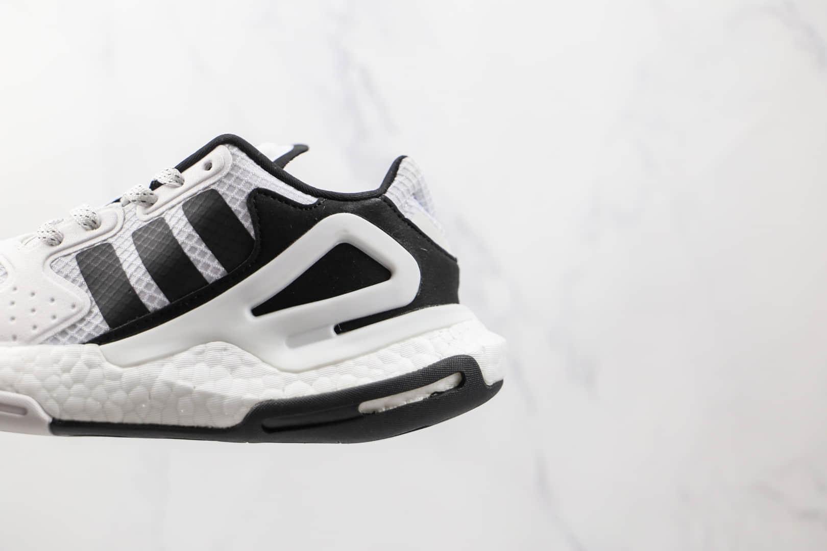 阿迪达斯Adidas Day Jogger 2021 Boost纯原版本夜行者二代网面白黑色爆米花跑鞋原盒原标 货号:FW5900