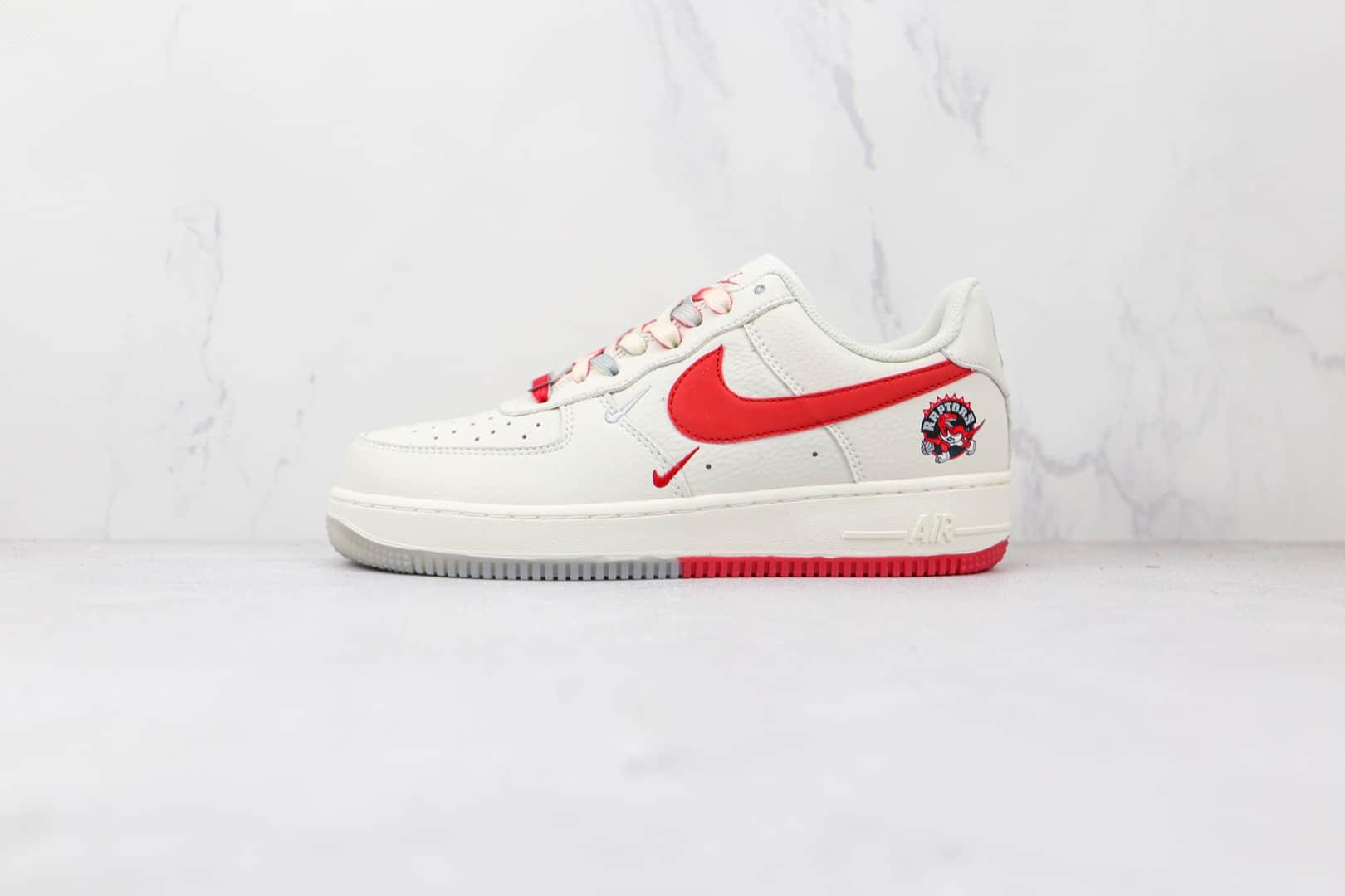 耐克Nike Air Force 1 Low '07纯原版本低帮空军一号多伦多猛龙队白灰红色板鞋内置气垫 货号:CH2608-216