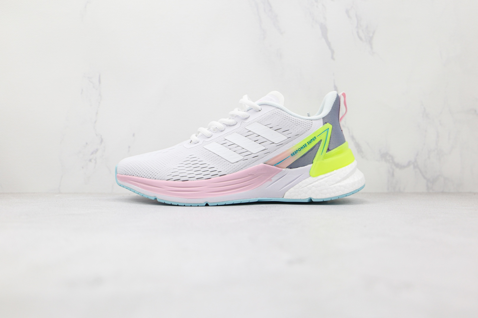 阿迪达斯Adidas RESPONSE SUPER纯原版本爆米花SR-l.PACE 5.0白粉色慢跑鞋原盒原标 货号:FY8887
