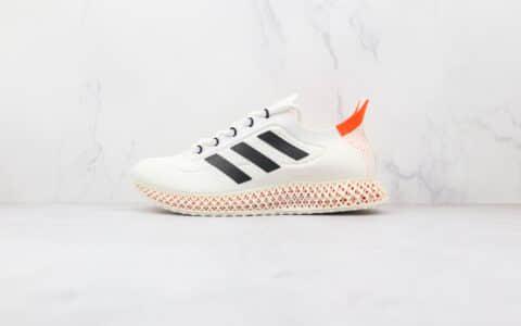 阿迪达斯Adidas Alphaedge 4D M纯原版本白黑红色4D FWD科技跑鞋原盒原标 货号:FY3967