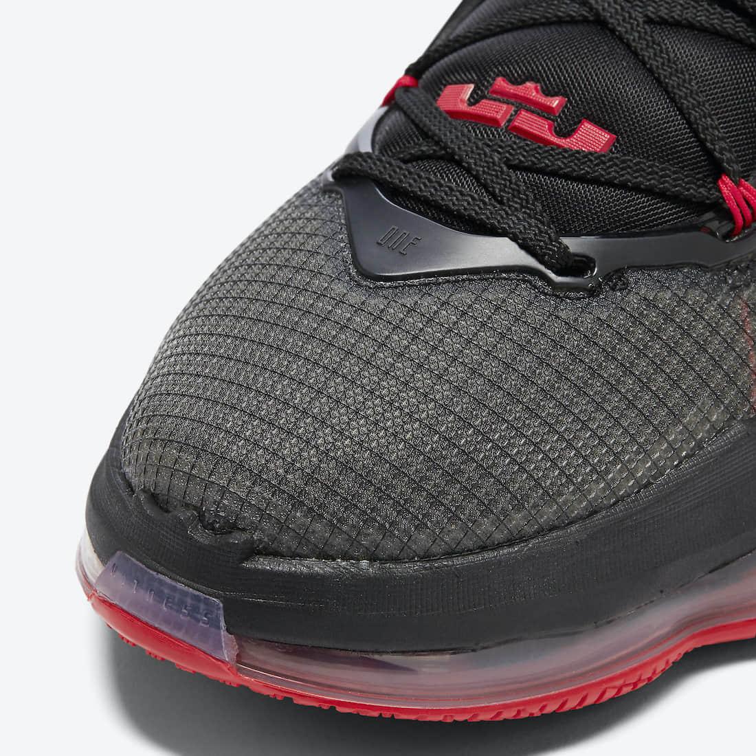 詹姆斯最新战靴!全新黑红 LeBron 19官图释出! 货号:DC9340-001