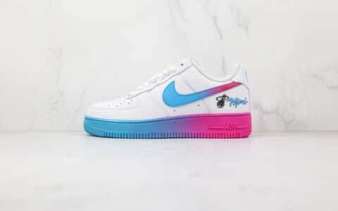 耐克Nike Air Force1 Miami Heat纯原版本低帮空军一号迈阿密热火城市限定板鞋内置气垫 货号:315122-116