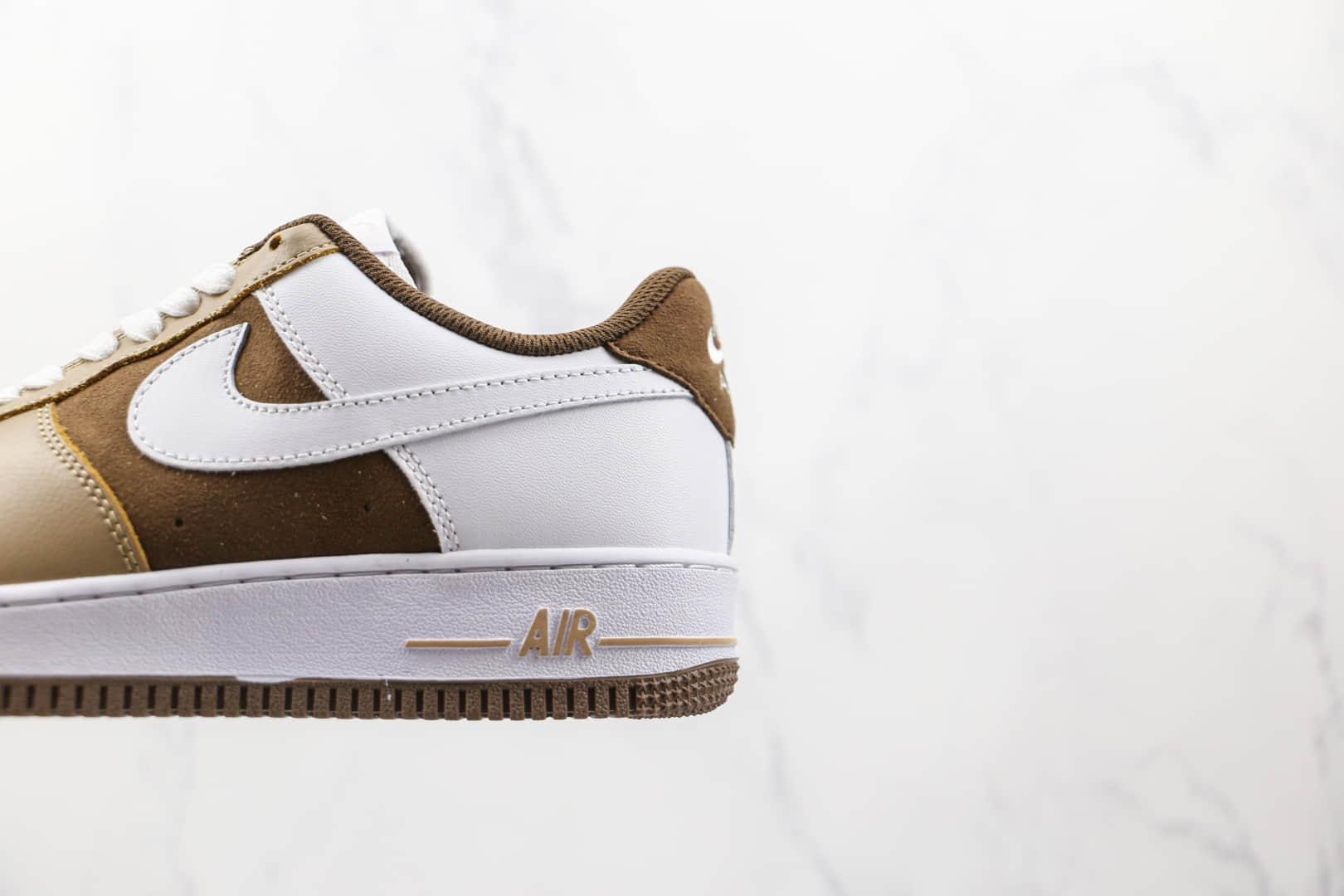 耐克Nike Air Force 1 cappuccino纯原版本低帮空军一号卡布奇诺拼色咖啡甜甜圈板鞋原盒原标 货号:CW2288-902