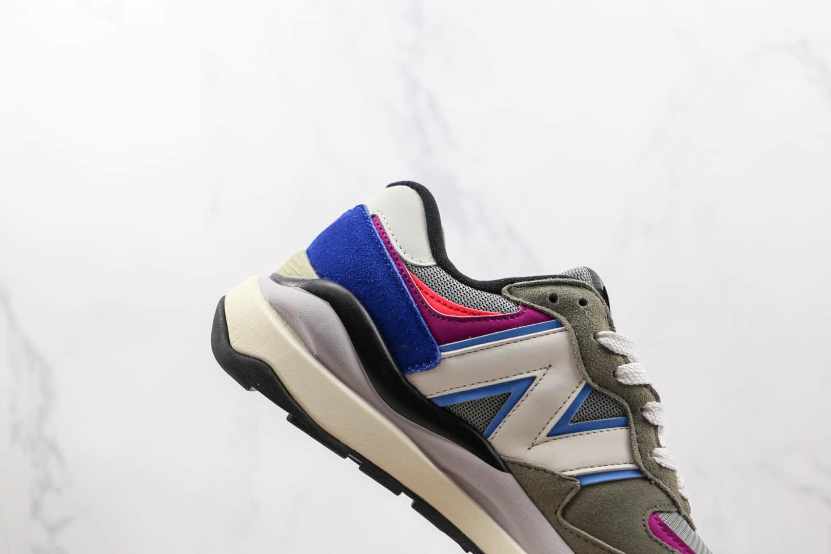 新百伦New Balance 5740纯原版本网面灰蓝粉色拼接NB5740复古老爹鞋原楦头纸板打造 货号:M5740DD1