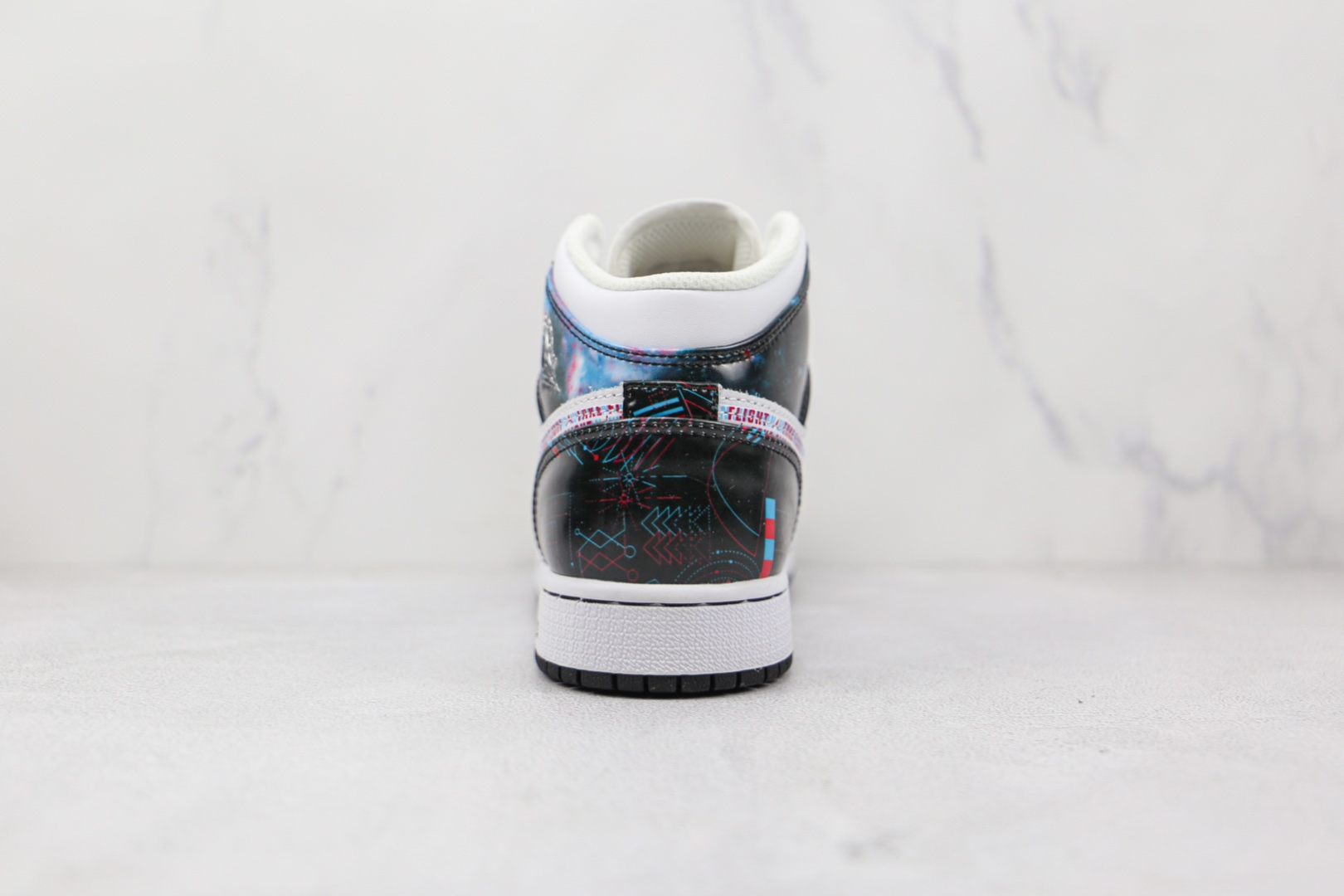 乔丹Air Jordan 1 MID纯原版本中帮AJ1裸眼星空3D印花篮球鞋原档案数据开发 货号:BQ6931-114