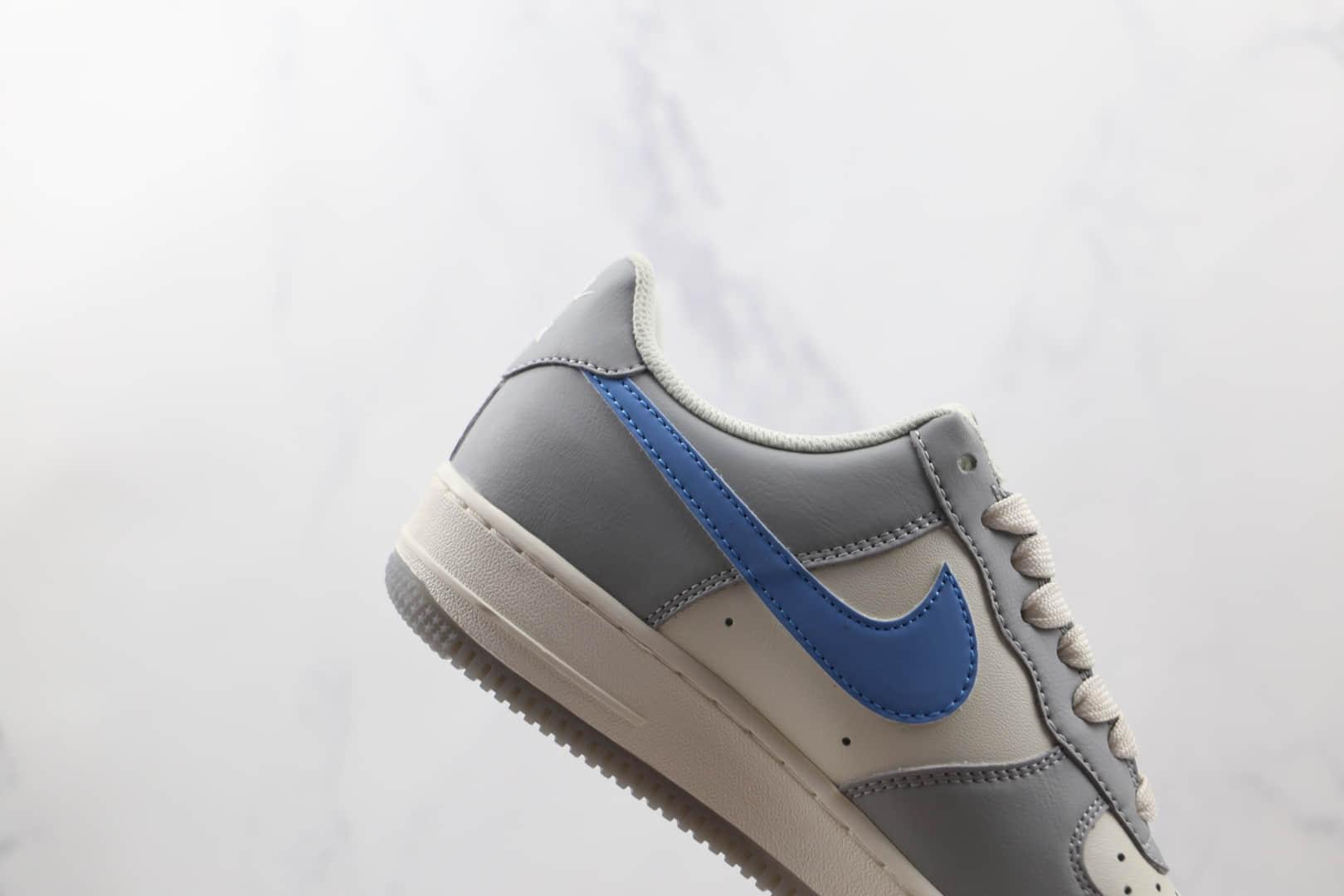 耐克Nike Air Force 1 Low纯原版本低帮空军一号白灰蓝色板鞋内置气垫 货号:DH2296-668