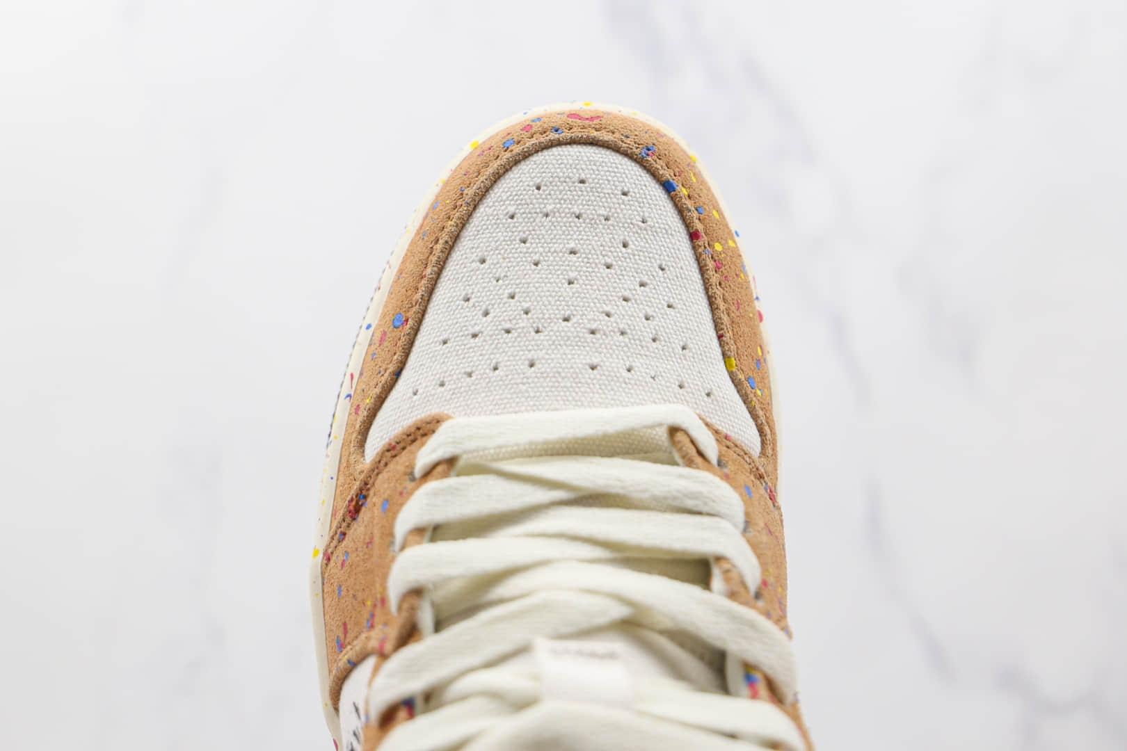 乔丹Air Jordan 1 Mid纯原版本中帮AJ1水彩油画泼墨篮球鞋原楦头纸板打造 货号:DA8005-100