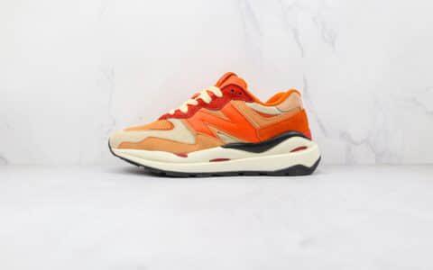 新百伦New Balance 5740纯原版本网面NB5740橘红色彩色拼接复古老爹鞋原盒原标 货号:M5740HH1