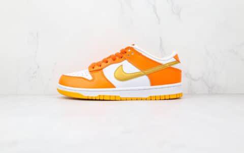 耐克Nike SB Dunk Low Orange Blaze纯原版本低帮SB DUNK白橙金色金钩板鞋原楦头纸板打造 货号:CU1726-002