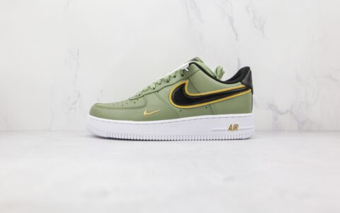耐克Nike Air Force 1'07 LV8纯原版本低帮空军一号橄榄绿黑钩板鞋内置气垫 货号:DA8481-300