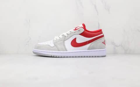 乔丹Air Jordan 1 Low纯原版本低帮AJ1灰白红色篮球鞋原档案数据开发 货号:DC6991-016