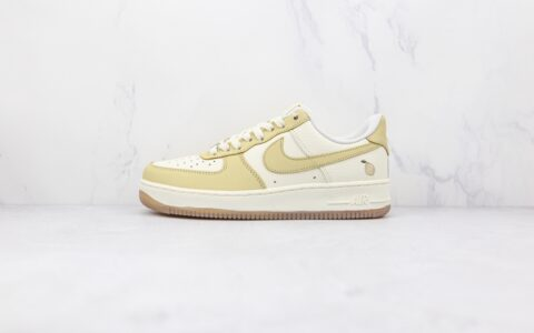 纯原版本耐克低帮空军一号柠檬米黄色板鞋出货